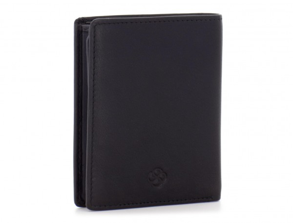 small leather wallet for men black side