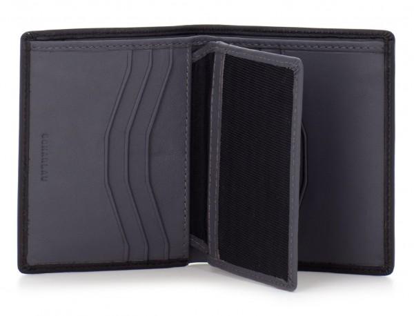 billetero de cuero porta tarjetas negro
