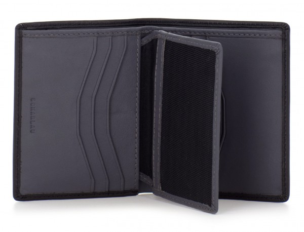 small leather wallet for men black