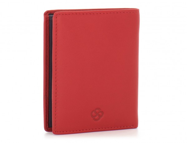small leather wallet for men red  side