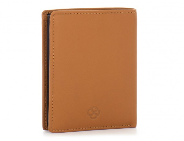 small leather wallet for men camel side