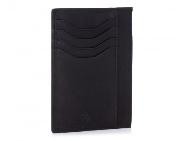 leather credit card wallet back side