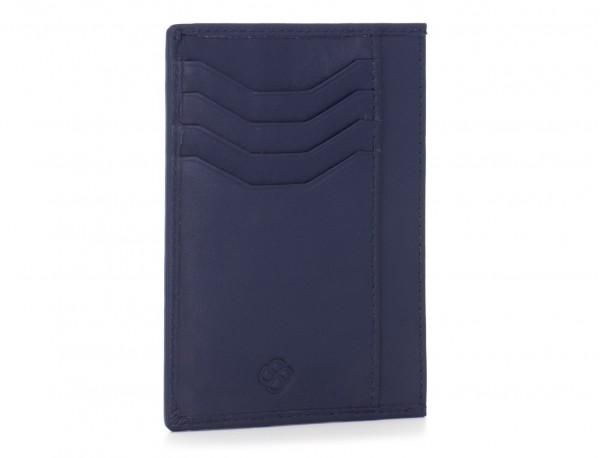 leather credit card wallet blue back