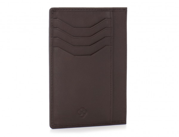 leather credit card wallet brown back