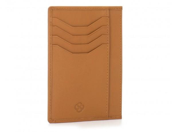 leather credit card wallet camel back