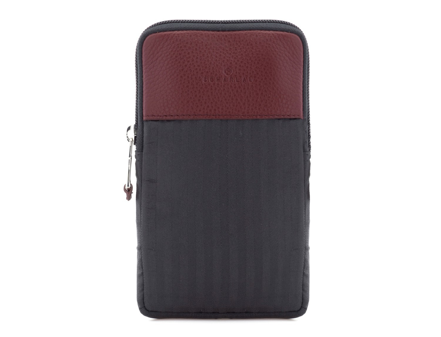Multipurpose pouch in burgundy front