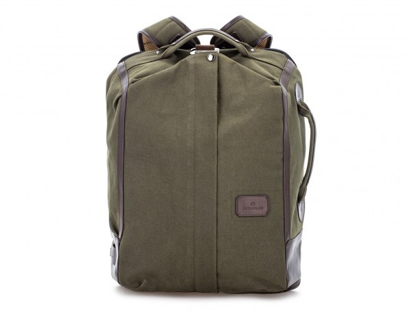Sack backpack in canvas and leather front