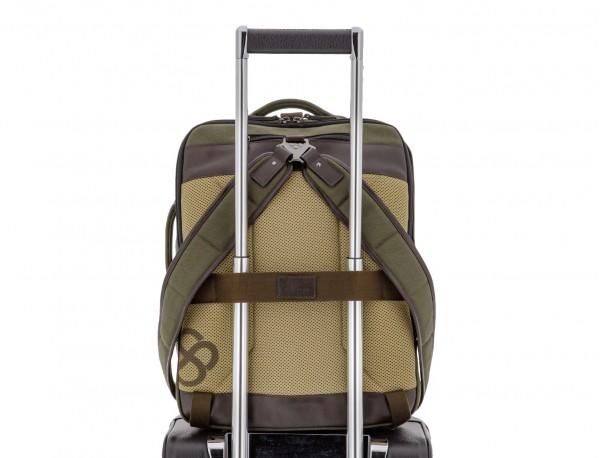 mochila saco de lona en color verde trolley