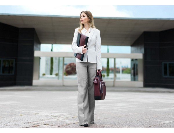 leather business bag in burgundy  lifestyle