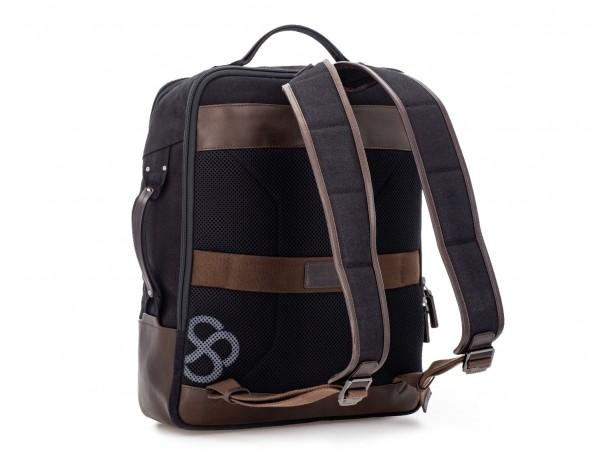 mochila de lona negro detrás