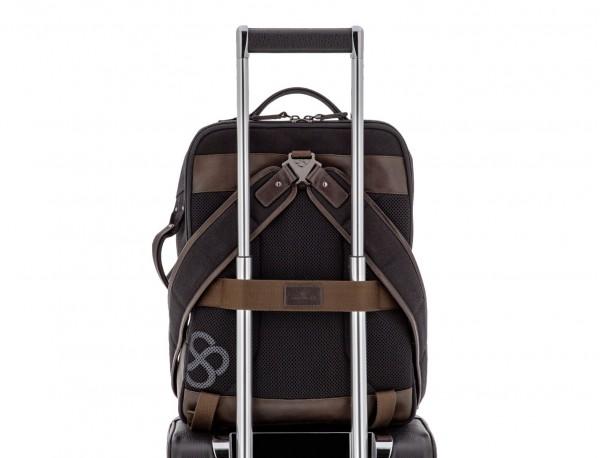 mochila de lona negro trolley