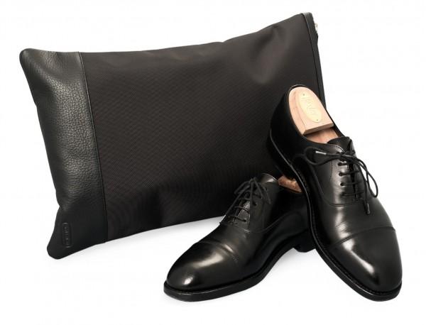 funda para zapatos negra abierto