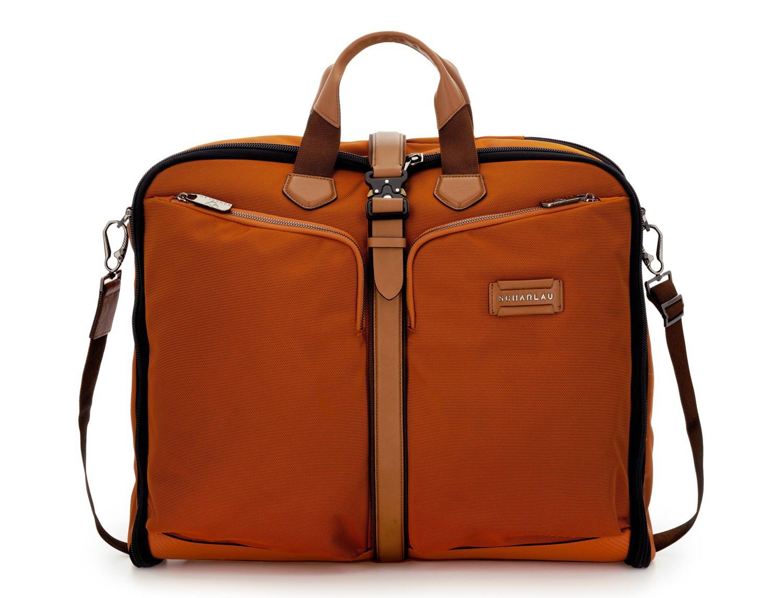 Travel suit bag in orange front