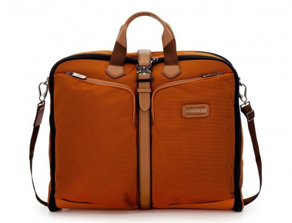 portatrajes para viajar de color naranja frontal