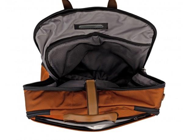 portatrajes para viajar de color naranja placa personalziada