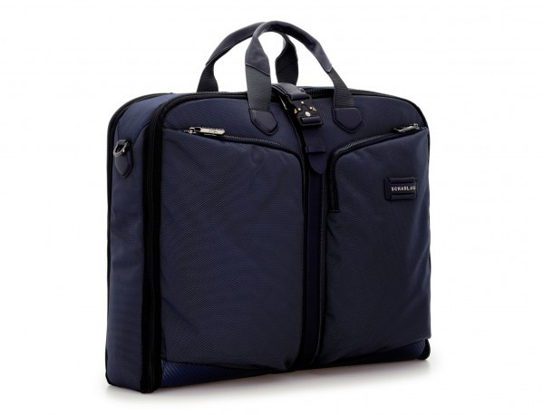 portatrajes para viajar de color azul lateral