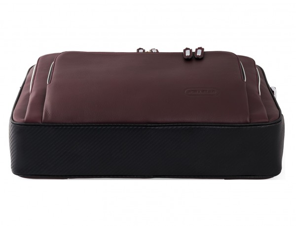 leather business bag in burgundy  base