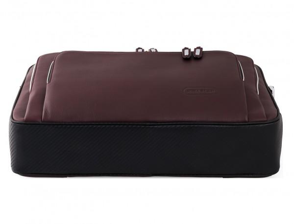 maletin ejecutivo de cuero en color burdeos base