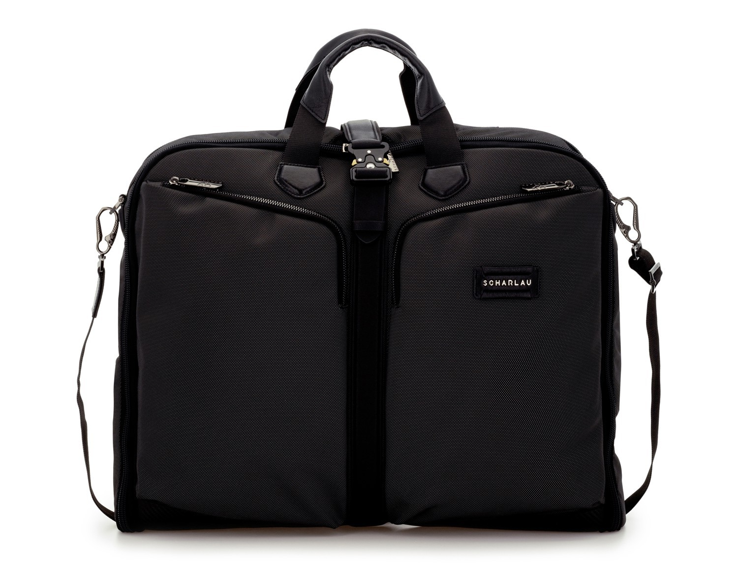 Travel suit bag in anthracite black front