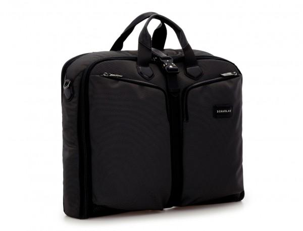 portatrajes para viajar de color antracita negro lateral