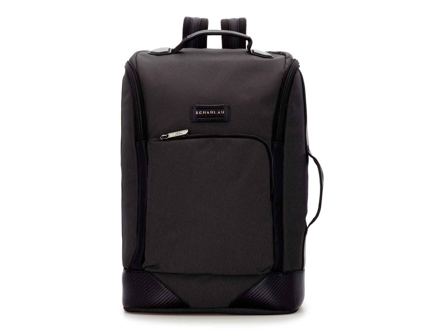 travel backpack tube in anthracite black front