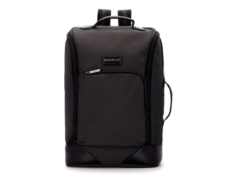 mochila de viaje color antracita negro frontal
