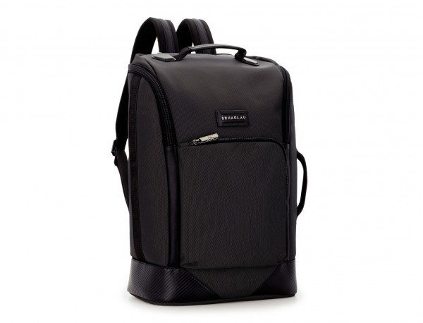 travel backpack tube in anthracite black side