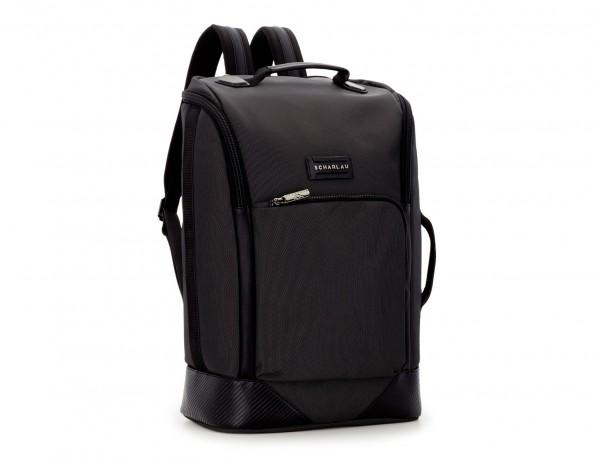 mochila de viaje color antracita negro lateral