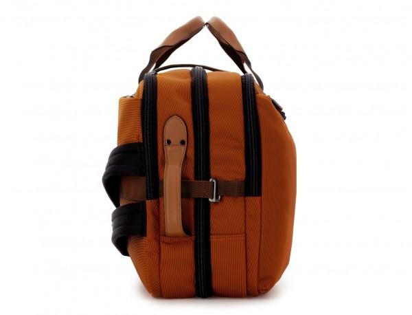 Travel bag backpack in orange side