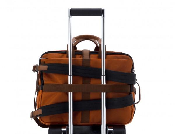 Travel bag backpack in orange trolley