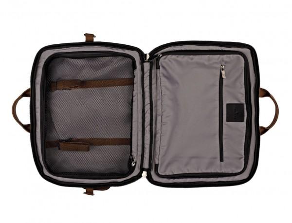 Travel bag backpack in orange inside