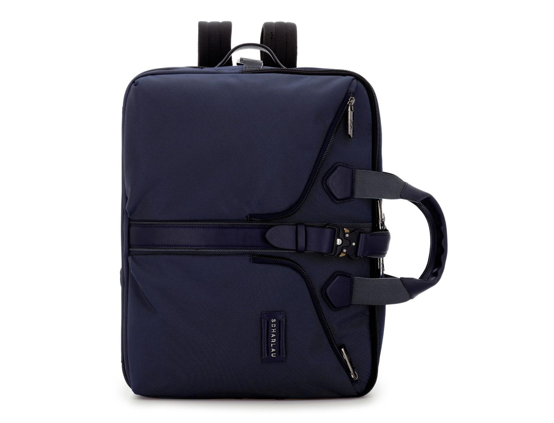 Maleta de viaje mochila en azul frontal