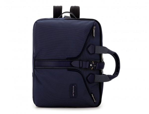 Travel bag backpack in blue front