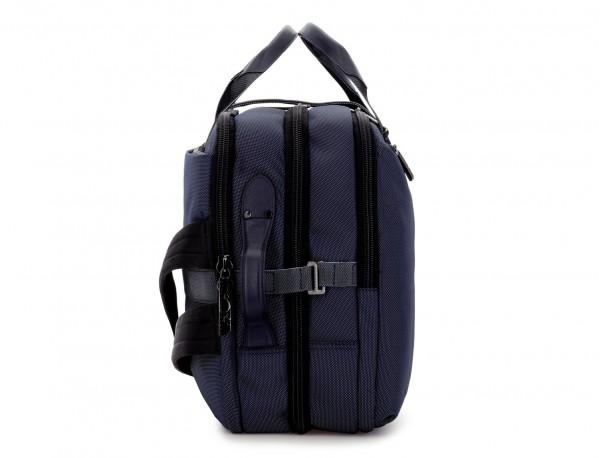 Maleta de viaje mochila en azul lado