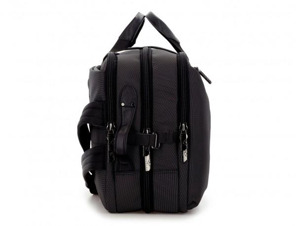 Travel bag backpack in anthracite black side