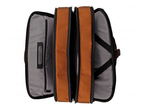 Travel bag backpack in anthracite black open