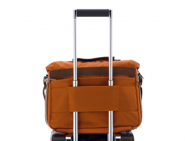 Messenger bag business in orange trolley