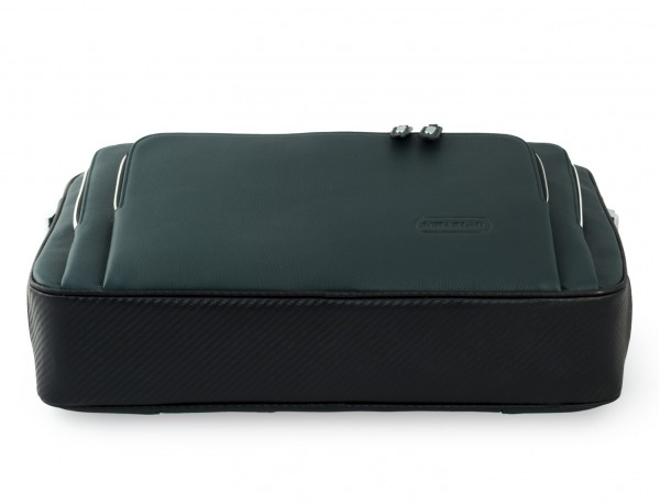 leather business bag in green base