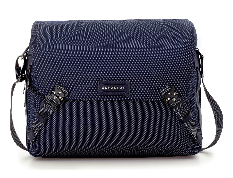 Messenger bag business in blue front
