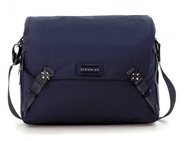 Messenger bag in blu front