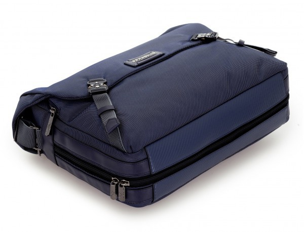 Bolso mensajero en color azul base