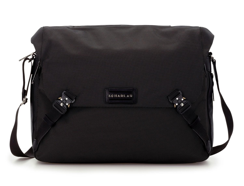 Messenger bag business in black anthracite front