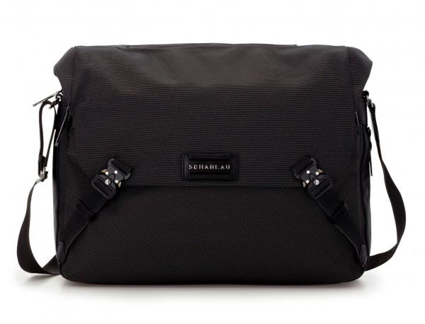 Messenger bag in nero front