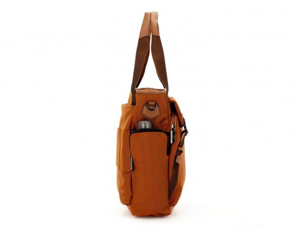 Laptop tote bag for woman in orange side
