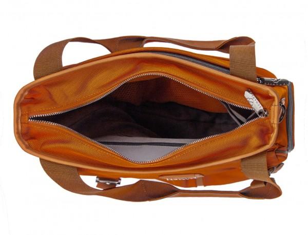 Bolso tote de mujer para ordenador portátil en color naranja abierto