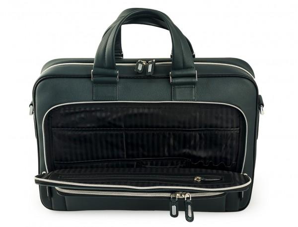 maletin ejecutivo de cuero en color verde detalle
