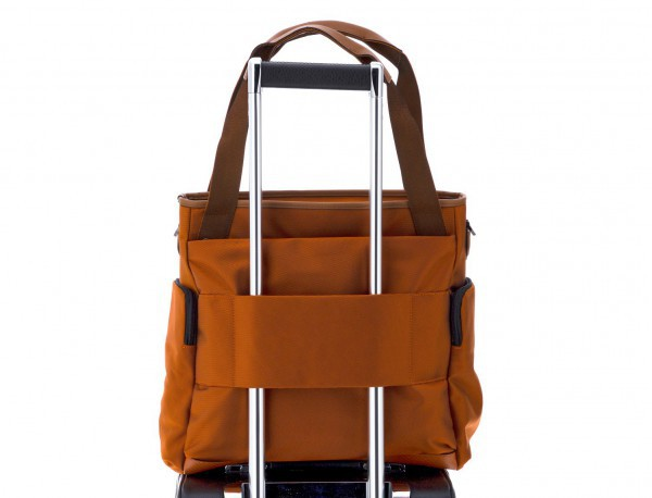 Laptop tote bag for woman in orange trolley