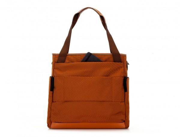 Laptop tote bag for woman in blue back pocket