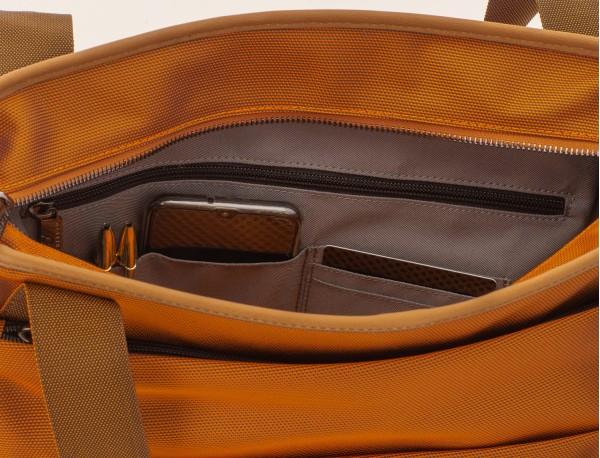 Bolso tote de mujer para ordenador portátil en color antracita negro bolsillo interior