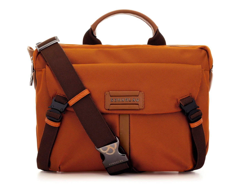 Large waist bag in orange front